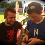 ...die Prohaska-Tirol-Tour...inklusive Headset-Problemen beim Inspektor Maier (l.)...äh...Schafferer...